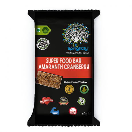 Amaranth Cranberry Super food Bar