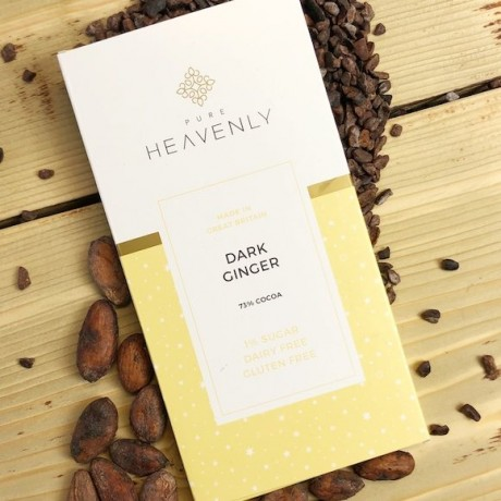 3 Low Sugar 72% Dark Ginger Chocolate Bars (Free From)