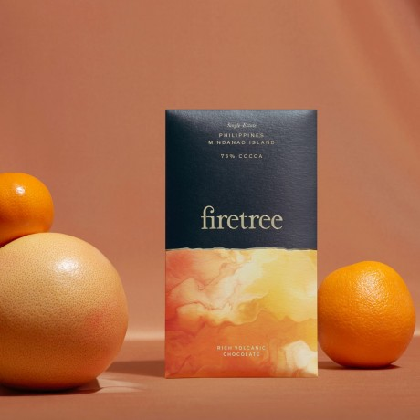 Firetree, Single Estate, Philippines, Mindanao Island, Rich Volcanic Chocolate Bar 73% Cocoa (2x65g)