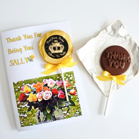 Personalised Thank You Card - Chocolate Greeting Card (Vegan, Soya and Gluten Free)