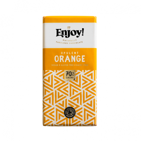 Orange Raw Organic Chocolate Bars (5 bars)