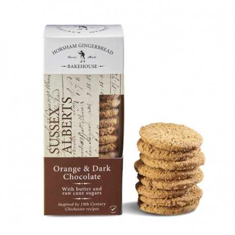 Orange & Dark Chocolate Sussex Alberts Biscuits (4x175gr)