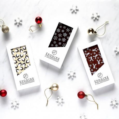 Experience the finest milk, dark and white chocolates