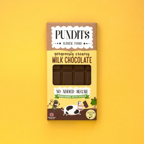 Pundits Milk Chocolate Bar | No Added Sugar | Sweetened with Stevia | Diabetic | Low Carb | Keto