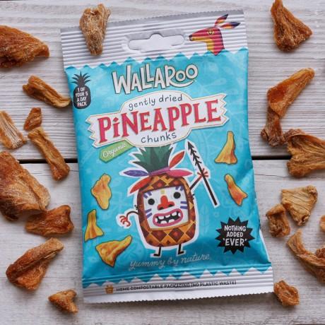Organic Vegan Gluten Free Dried Pineapple Chunks (10-Pack)