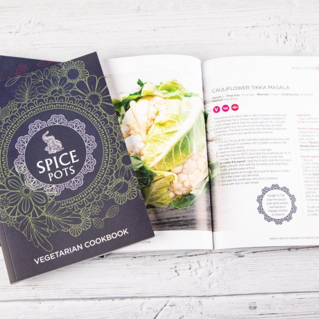 Spice Pots Vegetarian Cookbook - 70 pages of simple Indian-inspired recipes