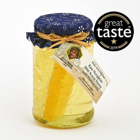 Award Winning Raw Hungarian Acacia Honey in Traditional Craft Pot