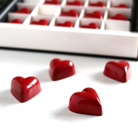 Caramel & Gianduja Heart Chocolates