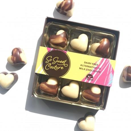 Dairy Free Alternative to Milk & White Chocolate Hearts