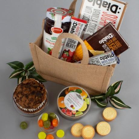Diabetic Jute Bag Gift Hamper