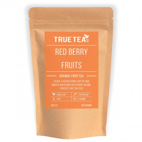 Red Berry Fruits Fruit Tea Packaging by True Tea Co