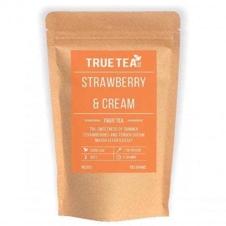 Strawberry Cream Fruit Tea by True Tea Co