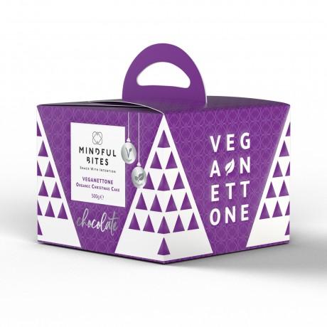 Mindful Bites Veganettone (Chocolate) - Vegan Panettone, Christmas Cake, No Palm Oil (500g)