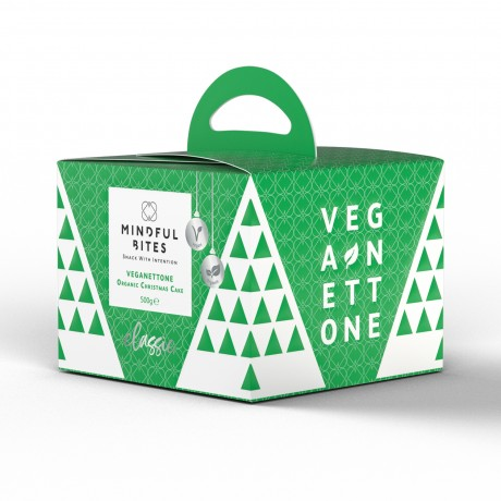 Mindful Bites Veganettone (Classic) - Vegan Panettone, Christmas Cake, No Palm Oil, Made in Italy (500g)
