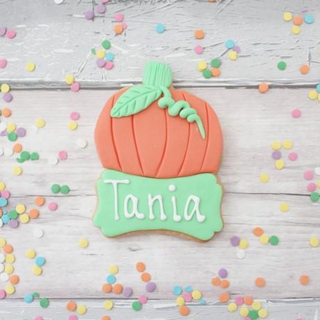 Personalised pumpkin cookies