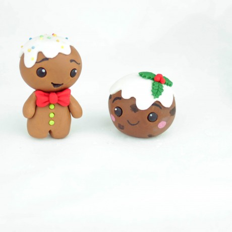 Gluten Free Gingerbread Man & Christmas Pudding Sugarpaste Toppers