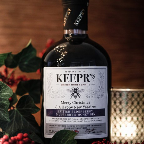 Keepr's Personalised British Elderberry, Mulberry & Honey Gin