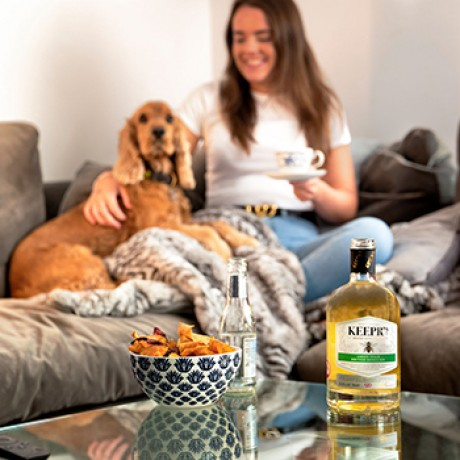 Keepr's Personalised Green Tea & British Honey Gin