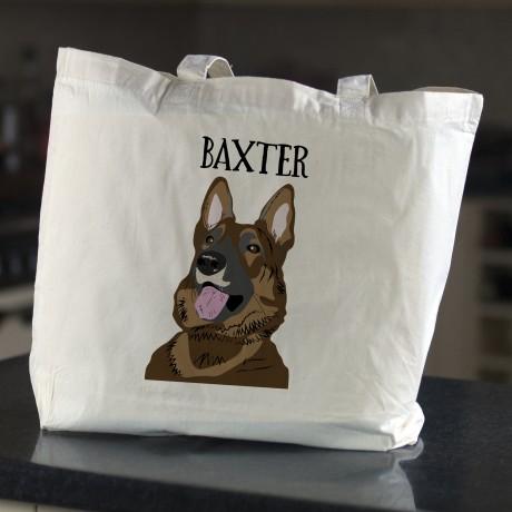 Personalised Dog Shopping Tote Bag