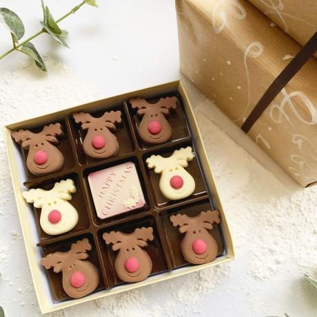 Christmas Milk And White Chocolate Reindeer Box