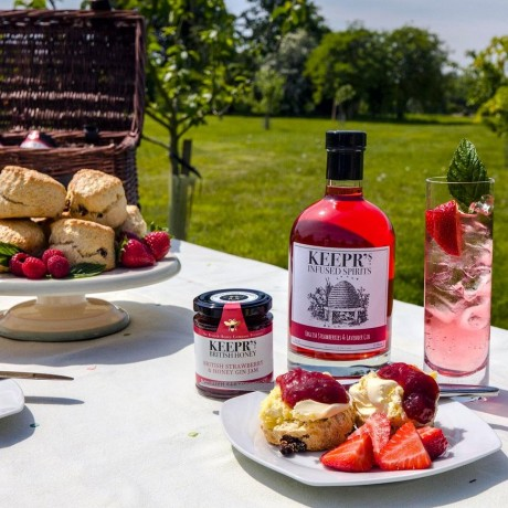 Scones with Keepr's Strawberry and Honey Gin Jam