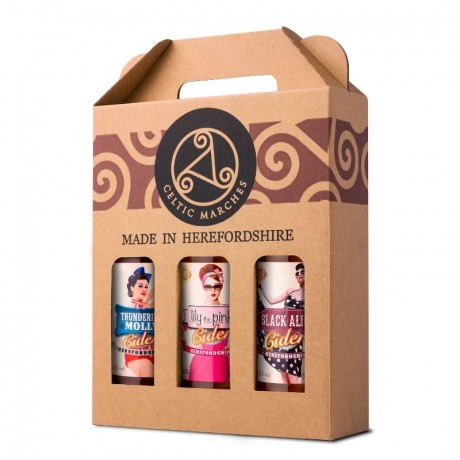 Celtic Marches 3 x 3 x 500ml Cider Gift Packs