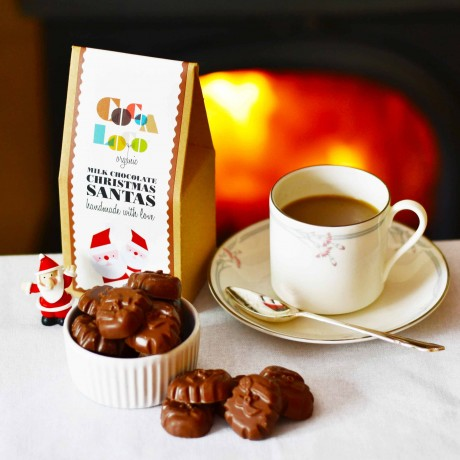 Cocoa Loco - Milk Chocolate Christmas Santas