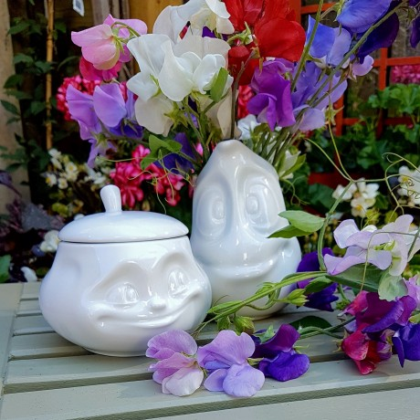 Small White Porcelain jug for sauces with its gift box