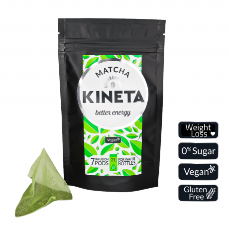 Matcha tea infusion PODs for waterbottles