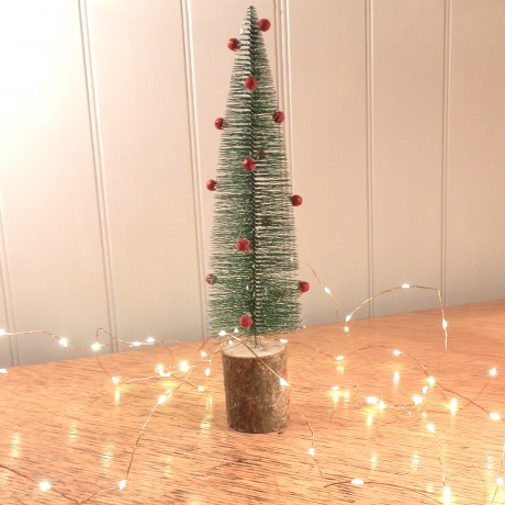 miniature christmas tree table centrepiece