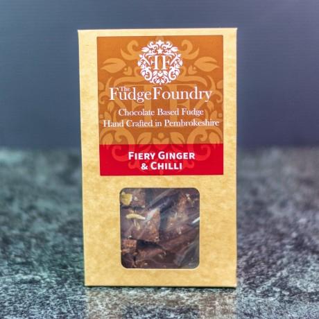 Dark Chocolate Fiery Ginger and Chilli Fudge