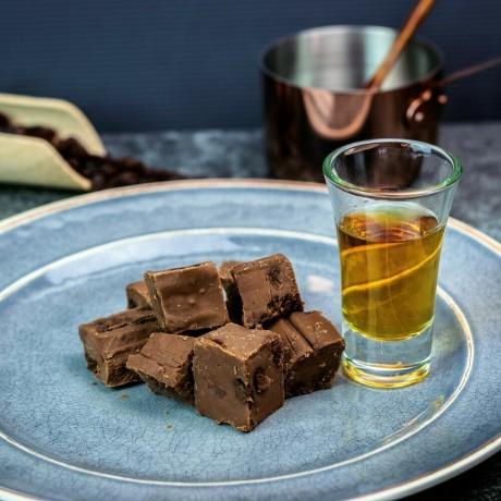 Milk Chocolate Rum and Raisin Fudge