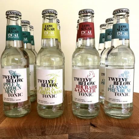 Twelve Below - Natural Low Sugar Tonics Sample Pack (mixed case of 12)