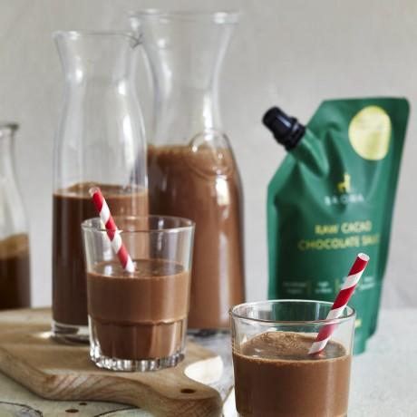 Chocolate milk made using Broma