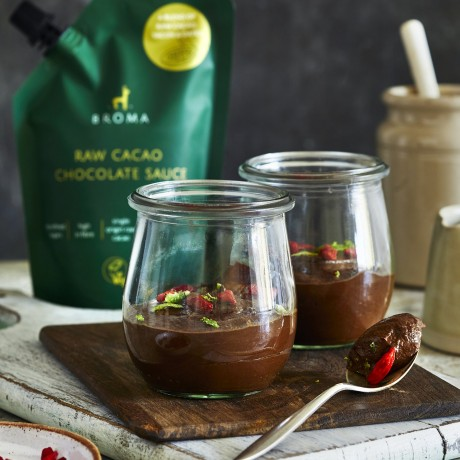 Vegan chocolate and avocado mousse