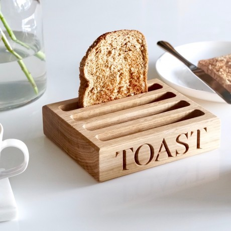 personalised oak toast rack