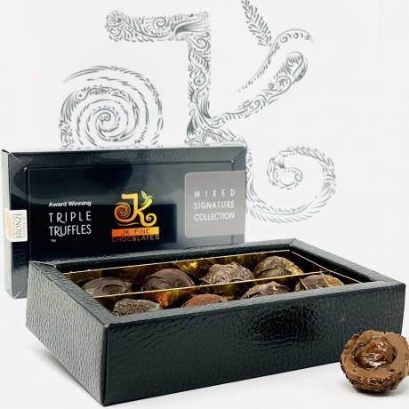 Triple Truffle Mixed Dark/Milk Chocolate Box (8 truffles)