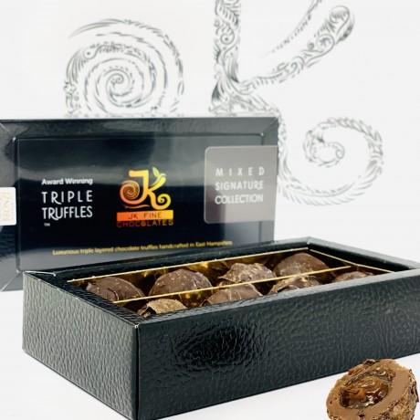 Salted Caramel Triple Truffle Dark Chocolate Box (8 Truffles)