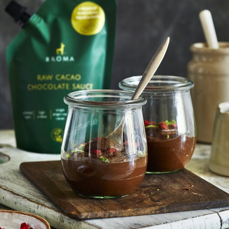 Vegan and Organic Chocolate and avocado pot