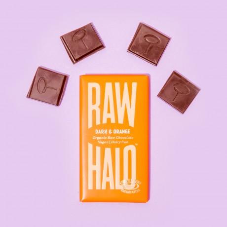 Dark & Orange (6 x 35g) Organic, Vegan, Raw Chocolate Bars