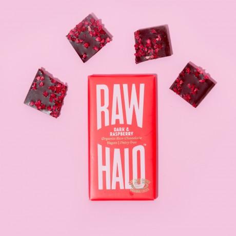 Dark & Raspberry (6 x 35g) Organic, Vegan, Raw Chocolate Bars