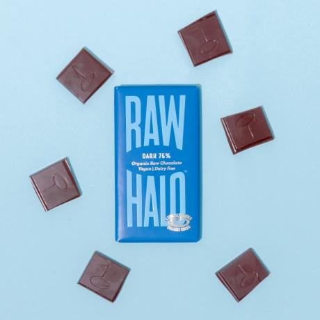 Dark 76% (6 x 35g) Organic, Vegan, Raw Chocolate Bars