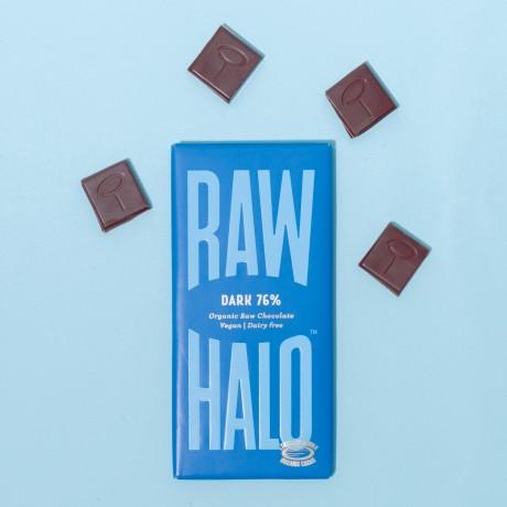Dark 76 (3 x 70g) Organic, Vegan, Raw Chocolate Bars