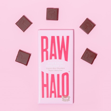 Mylk & Pink Himalayan Salt (3 x 70g) Organic, Vegan, Raw Chocolate Bars