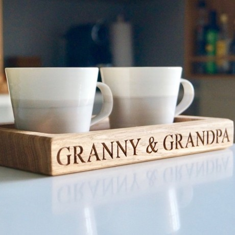 Personalised Tea Cup Tray