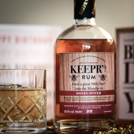 Keepr's Personalised Cotswold Honey Spiced Rum