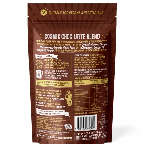 Cosmic Choc Latte Blend - Chaga, Cocoa and Maca Root 200g