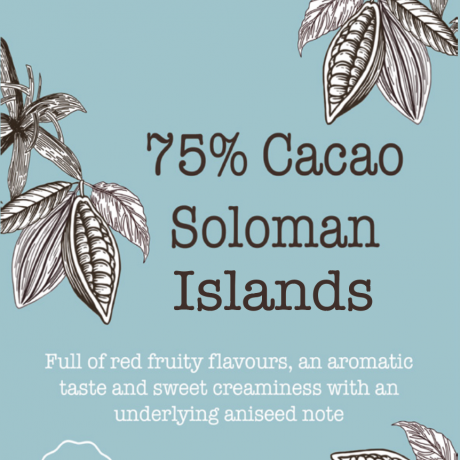 Vegan 75% Solomon Island Chocolate Bar / Vegan chocolate & no refined sugar