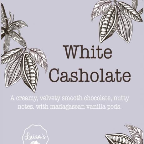 Vegan White Casholate Chocolate Bar / Vegan White Chocolate made from Cashew nuts
