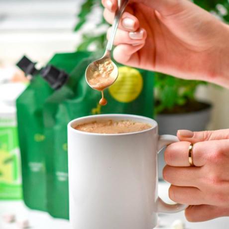Vegan and organic hot chocolate